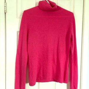 100% cashmere Lord & Taylor roll neck sweater